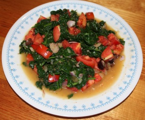 Grilled Spinach with Salsa